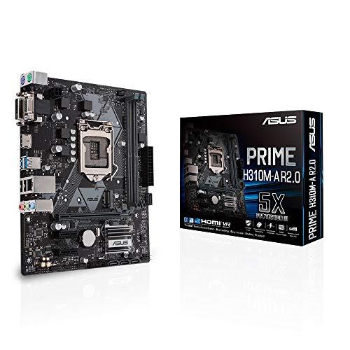 ASUS Prime H310M-A R2.0 Intel H310 Micro ATX DDR4 Motherboard, LGA1151, USB 3.1
