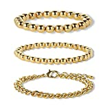 LILIE&WHITE Stretched Bead Bracelet for Women Love Gold Bangle Bracelets Women Bracelets Gold Jewelry for Women