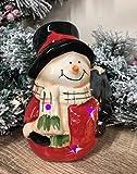 Mezzaluna Gifts - Adorno navideño de muñeco de Nieve de cerámica esmaltada