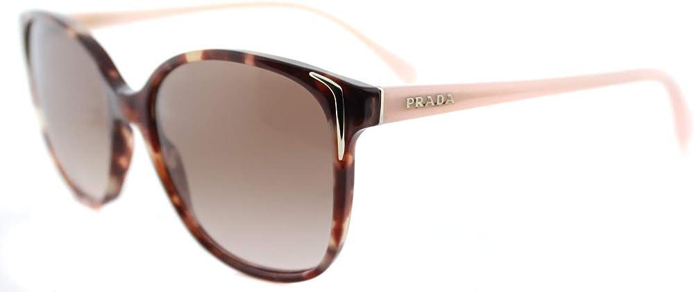 Prada, occhiali da sole per donna, montatura in ACETATO  - lente: MARRONE 01OS