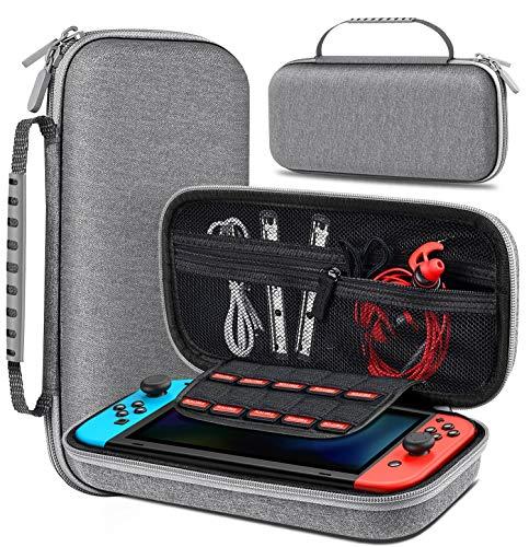 Tasche für Nintendo Switch, BEBONCOOL Switch Tasche mit Viel Platz für Switch Konsole, 10 Spielen, Switch Schutzhülle, Anderes Nintendo Switch Zubehör, Switch Tragetasche für Nintendo Switch Tasche