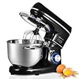 Nidouillet Stand Mixer, 6.5 L Stainless Steel Mixing Bowl, 6-Speed 1500W Electric Kitchen