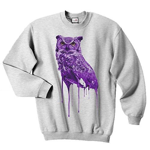 Ovoxo Sweatshirt Jumper Eule Drake Lil Wayne YMCMB Swaetshirt Fresh Dope Herren Damen Gr. XL/ 112 cm- 117 cm, grau meliert