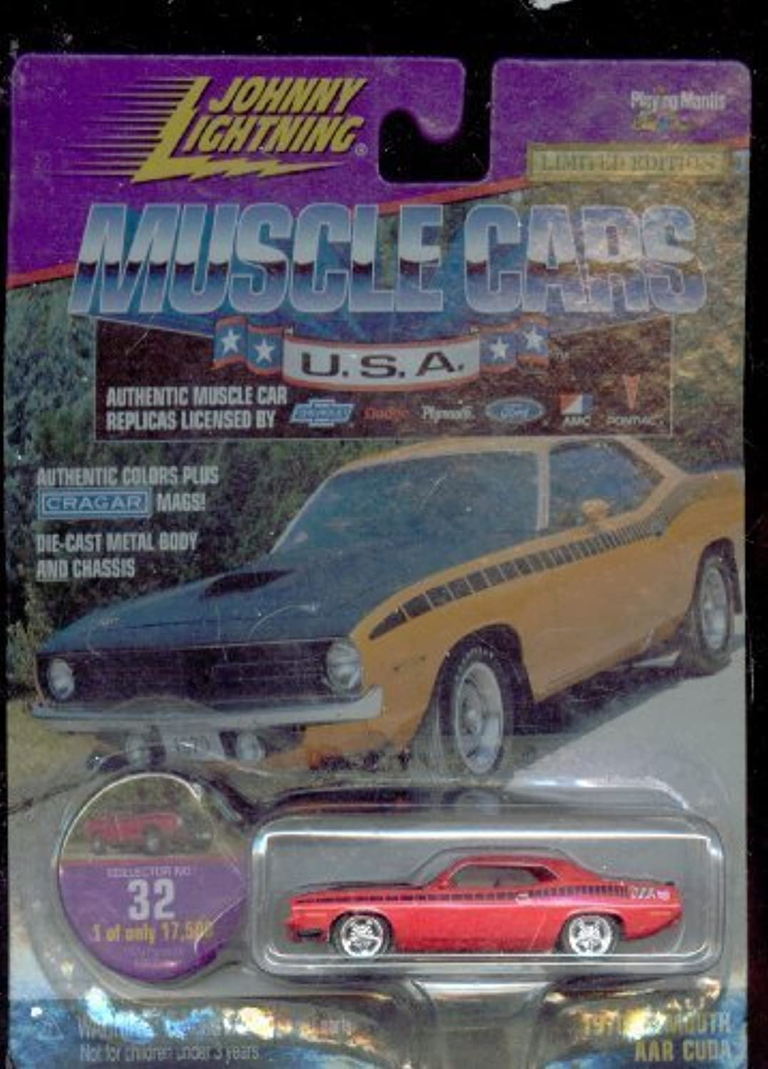 Johnny Lightning 1999-32 Muscle Cars Usa 1970 Plymouth Aar Cuda 1 of Only 17,500 1 64 Scale by Johnny Lightning