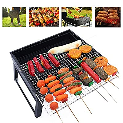 kcomotee Barbecue Grill Portable Barbecue Grill Foldable BBQ Grills Outdoor Camping Mini Barbecue Grill