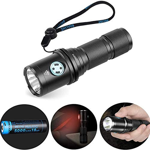 IMALENT DM70 - Linterna de bolsillo compacta Cree XHP70.2 LED Super Bright 4500 lúmenes, linterna de bolsillo recargable, linterna de alta lúmenes 21700 batería recargable para camping, senderismo