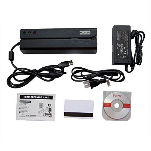 deftun MSR606Cierre magnético codificador de Tarjeta Lector Escritor Tarjeta de crédito Swipe USB con 20pcs Tarjetas en Blanco