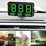 MASO - Tachimetro digitale universale GPS per auto, OBD-II, sistema di allarme sovravelocità MPH/KM/h