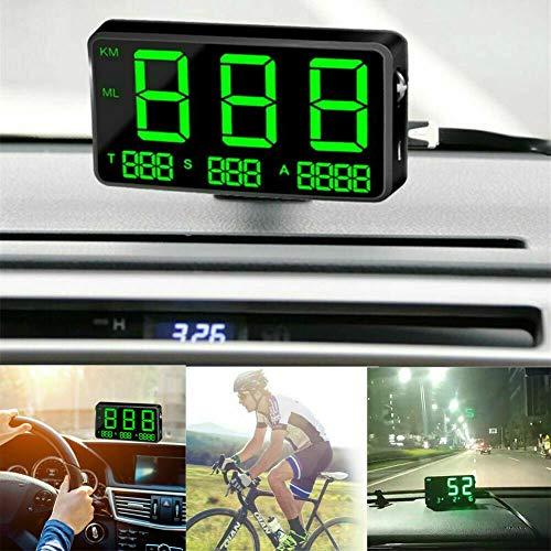 MASO - Velocímetro digital universal GPS OBD-II Sistema de alarma de exceso de velocidad, en MPH/Km/h
