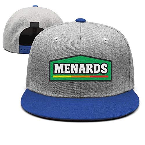 AINIJIAJ Men/Women Print Adjustable Menard-Home-Improvement-Centers- Low Profile Flat Brim Trucker Cap