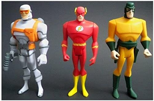 DC Universe Justice League Unlimited Action Figure 3Pack Heatwave, The Flash Mirror Master by Justice League Animated
