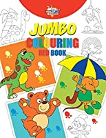 Jumbo Colouring Red Book for 4 to 8 years old Kids Best Gift to Children for Drawing, Coloring and Painting