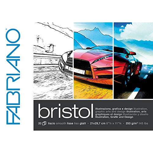CREATIV DISCOUNT Bristol Block A4, 250g/qm, 20 Blatt