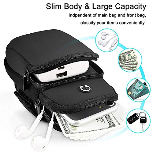 CEUTA® All Android and iOS Mobile Phones Universal Waterproof Hand Fitness Armband Pouch/Arm Belt/Case for Running Hiking Jogging Sports and Gym Activities, Up to 6.5inch – Multi Color