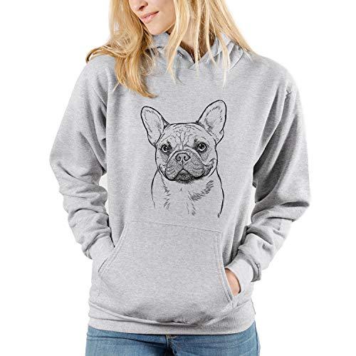 Bare Chew Chew The French Bulldog Dog Unisex Pullover Hoodie Sweatshirt 2XL Grey
