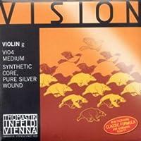 CUERDA VIOLIN - Thomastik (Vision/VI04) (Alma Sintetica Entorchado/Plata) 4ェ Medium Violin 4/4