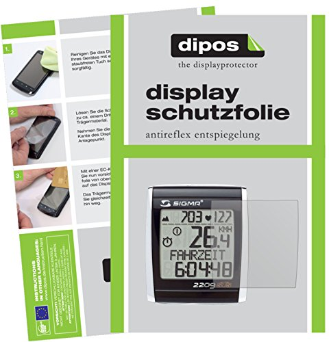 dipos I 6X Schutzfolie matt kompatibel mit Sigma BC 2209 STS (E-Bike Display) Folie Displayschutzfolie