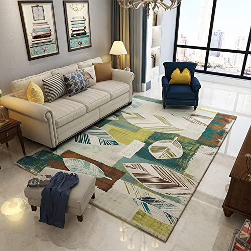 NF Alfombra rectangular con estampado geométrico 3D nórdico, alfombra de salón, alfombra grande, alfombra para el pasillo, dormitorio, mesita de noche, antideslizante, 140 x 200 cm