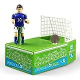 Faironly Hucha de fútbol creativa eléctrica para jugadores de fútbol con goles de fútbol divertida, hucha de monedas ideal como regalo para aficionados al fútbol sin música y sin luz KAD079185
