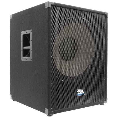 Seismic Audio - Enforcer II PW - Powered PA 18' Subwoofer Speaker Cabinet 1200 Watts