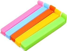 Encoco color al azar Pinzas de silicona para sellar bolsas de alimentos 10 unidades