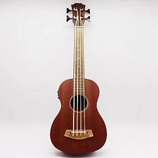 ukulele 30 بوصة الكهربائية القيثارة باس غيتار كامل Okoume الغيتار الصوتية الجسم اللون الطبيعي 4 سلسلة مصغرة باس غيتار هدية...