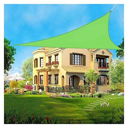Toldos, Triángulo, Toldo Proteccion Solar, 95% De Bloqueo UV Impermeable para Fiesta En El Patio del Jardín Al Aire Libre con Cuerda Libre, Verde ZHANGXU (Color : Green, Size : 5x5x5m)