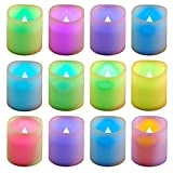 Lumabase 81612 12 Count Color Changing Battery Operated Votive Candles