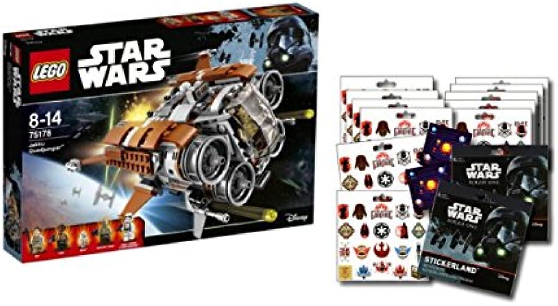 LEGO Star Wars 75178 - Jakku Quadjumper + 1 Star Wars  ROuge One Stickerbogen