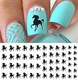 Pegatinas de uñas de unicornio negro, calidad de...