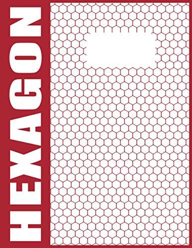 Papier Chemie Hexagon Block A4 - 120 Nummerierte Seiten Mit Grauen Linien