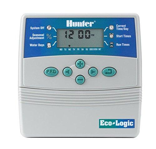 HUNTER ELC-401I-E Programador de riego eléctrico Interior, Gris, 25.5x18.5x8.0 cm