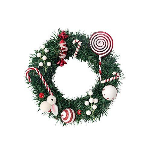 Weihnachtskranz Tür Wand Ornament Girlande Dekoration Weihnachtsgeschenk Wohnmöbel Anhänger Geschenke