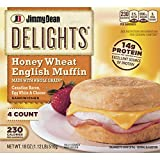 Jimmy Dean Delights Canadian Bacon, Egg White and Cheese English Muffin Breakfast Sandwich, 4 Count (Frozen)