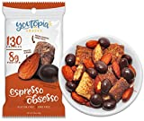 Youtopia Snacks Delicious 130-calorie Snack Packs, High-Protein Low-Sugar Low-calorie Gluten-free GMO-free Healthy Snacks, 1oz Snack Packs (Pack of 10), Espresso Obsesso