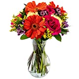 Delivery by Monday, September 27th Arabella Bouquets Everlasting Fling with vase (Fresh Cut Flowers)