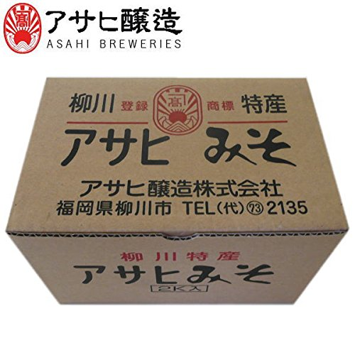 福岡県柳川 アサヒ醸造 田舎麦味噌 2kg (御自宅用)(YB-12:麦みそ)