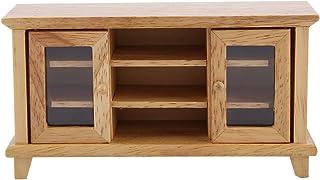 Haokaini 1:12 Scale Dollhouse Storage Dollhouse Furniture TV Cabinet Miniature Mini Wooden Furniture Gift