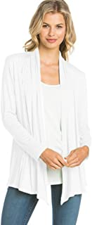 Basic Long Sleeve Open Front Cardigan (S-XXXL) - Made in USA