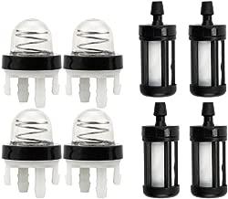 Dxent 4Pcs Primer Bulb w Fuel Filter for STIHL BR350 BR430 BR450 SR430 SR450 Leaf Blower TS410 TS410Z TS420 TS420Z Concrete Cut Off Saw