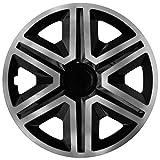 NRM Action 4 x Universal Radzierblenden Radkappen Satz 4er Set Auto KFZ Zoll (Graphit-schwarz, 16')