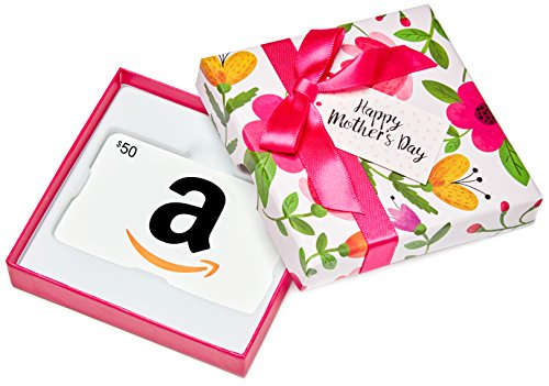 Amazon.ca $50 Gift Card in a Floral Box (Classic White Card Design)