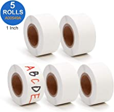 Labelife Removable Label Tape Writable 1 Inch White Label Write on Labeling Tapes, 500 Inch/Roll, 5 Rolls
