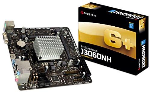 Biostar j3060nh (ver. 6.x) integrada Intel CPU Dual Core Celeron j30602.48GHz Mini-ITX DDR3/DDR3L SO-DIMM VGA/HDMI USB 3.0Placa Base–(Componentes  placas base)