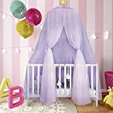 LJQLXJ Mosquitera Kid Bedding Mosquito Net Romantic Round Bed Mosquito Net Bed Cover Pink Hung Dome Bed Canopy For Kids,Purple