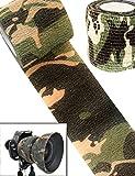 Outdoor Saxx Camouflage Tape Tissu Bande de Camouflage Imperméable Multi-Usages Équipement Appareil Photo pour Chasse Pêche Photographes 4.5m x 5cm