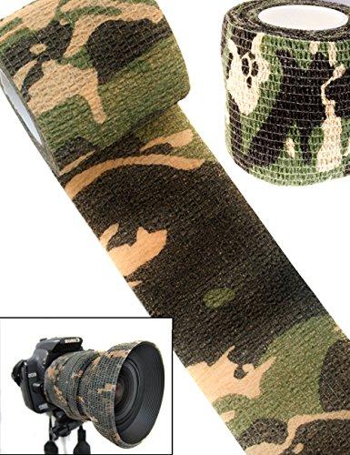 Outdoor Saxx® - Camouflage Tarn-Tape, Gewebe-Band Wasserfest mehrfach verwendbar, Kamera, Ausrüstung für Jäger, Angler, Fotografen, 4,5 m x 5 cm