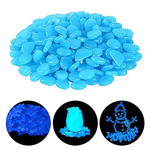 100 Pezzi Ciottoli Incandescenti Pietre Bagliore nel buio ciottoli pietre luminose decorative ciottoli luminosi colorati per passerelle da giardino decorazione acquario acquario pietre luminose blu