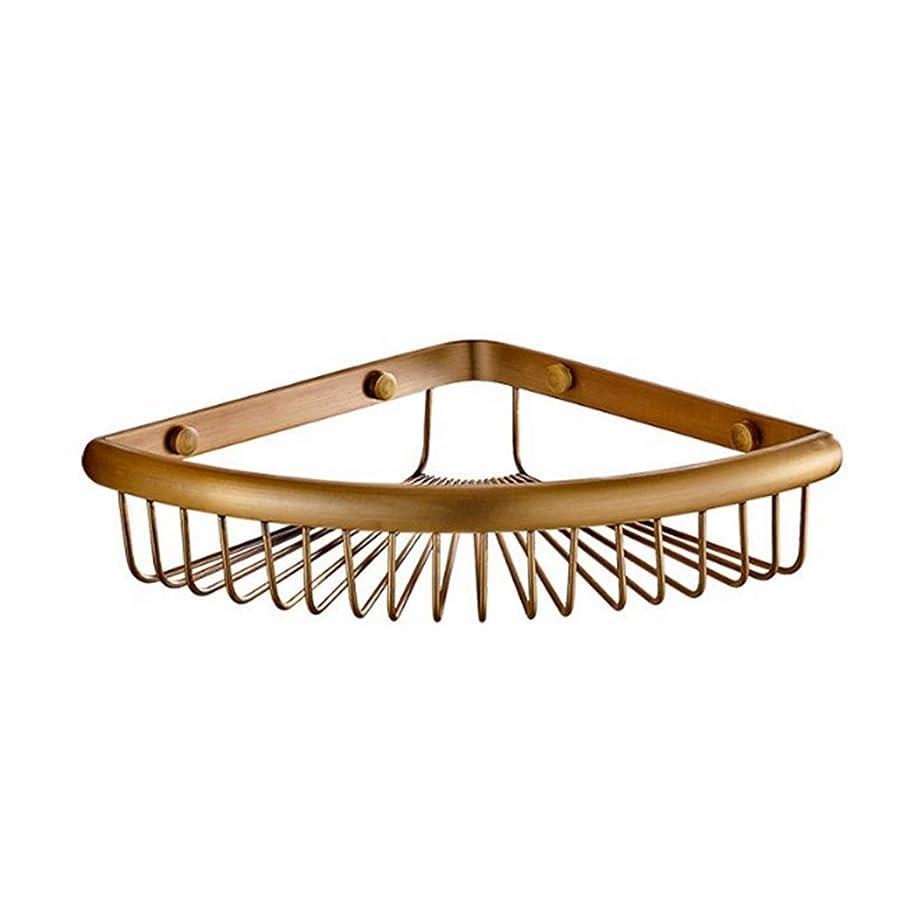 デザートブランドロデオCAFUTY バスルームコーナーシャワーシェルフシャワーストレージ耐久性のある銅シャンプーバスケットホルダーキッチンコーナーシェルフ(シングルレイヤー、ダブルレイヤー、ダブルレイヤーフック) (Color : Metallic, サイズ : Double layer hook)