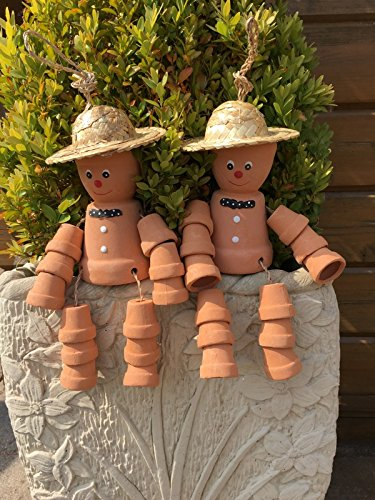 Hunky Dory Gifts Pair Cheeky Cheerful Flower Pot Men With Straw Hat Garden Decorative Ornament  sc 1 st  Amazon UK & Garden Ornaments Flower: Amazon.co.uk